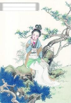 中华艺术绘画古画绘画仙女神仙嫦娥貂蝉西施中国古代绘画