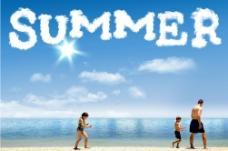 夏日的海边图片