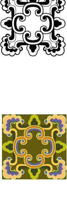 中国式花纹门柱上那种图片