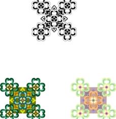 中国古典花纹 五朵鲜花图片