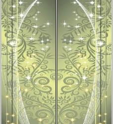 韩国矢量花纹移门门艺玻璃印花图片