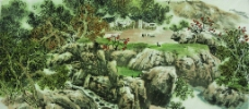 姜光明 国画 《秋醉山家》图片