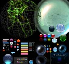 球按钮地球珠子图片