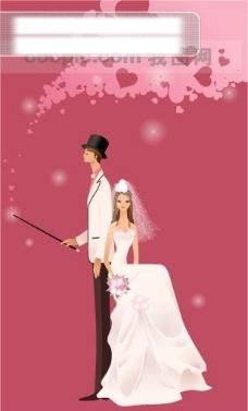 40P之10卡通系列唯美漂亮的婚纱新娘矢量素材sxzj
