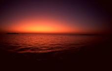 海上红霞图片
