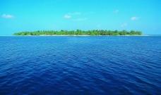大海小岛天空素材图片