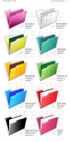 彩色文件夹图片