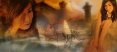 艺术照 模板 女人 性感 写真 梦幻图片