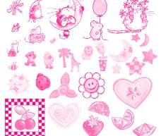 樱桃 草莓 小蜜蜂 小动物