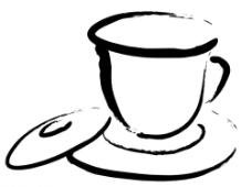 茶杯  手绘茶杯  分层图片