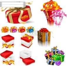5套漂亮的礼品礼物包装盒矢量素材sxzj