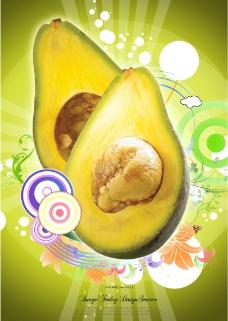 精美热带水果广告招贴图片