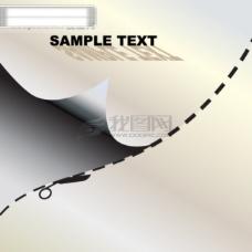 条形码和卡片裁切线矢量2