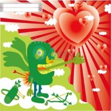 可爱情人节矢量素材1