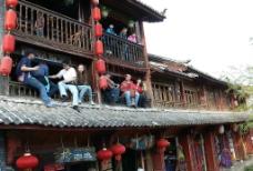 丽江古镇咖啡屋图片