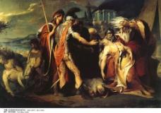 李尔王为科德利亚的死而哭泣图片