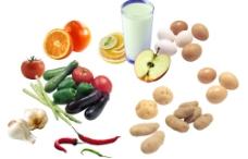 分层水果蔬菜图片