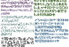 天文星体主题英文字体