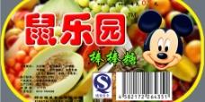食品标签 米老鼠 棒棒糖 水果味图片