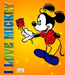 拿着玫瑰的米老鼠图片