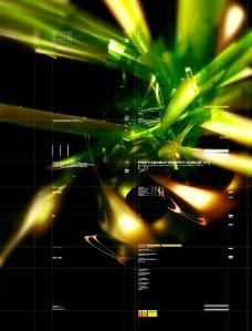 绿色眩光抽象背景图片