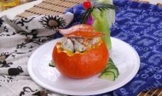 南瓜戏飞蟹图片