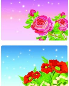 矢量花朵背景几款图片