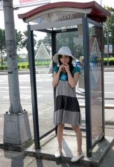 台湾网络超人气美女果子MM太阳帽图片