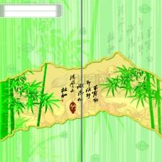 竹韵折页PSD分层模板 竹子图片素材 折页
