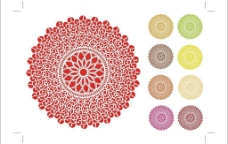 圆形古典花纹图片