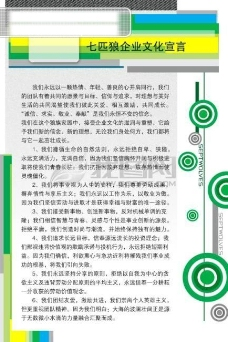 七匹浪制度展板模板_企业文化宣传模板