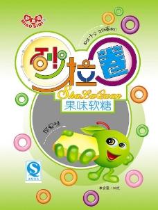 砂拉圈 果味软糖 苹果卡通 糖果 彩色圈 糖果包装袋 psd 300dpi图片