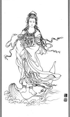 中国神话人物077观音图片