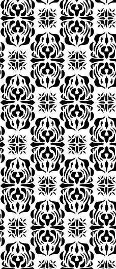 黑白装饰花纹图片