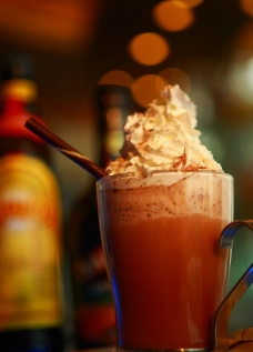热巧克力鸡尾酒图片