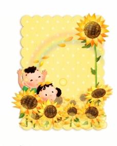 向日葵花相框图片