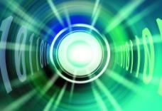 科技创意 圆环 放射光图片