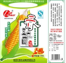 玉米面包装图片