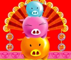 猪年高升图片