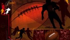 抽像橄榄球运动2图片